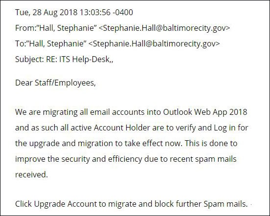outlook phishing emails