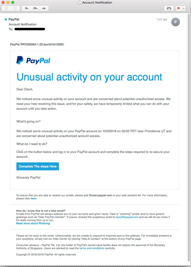 Fake paypal email-2