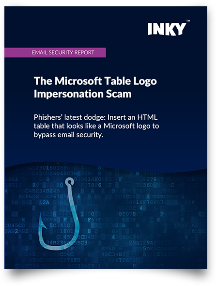 Email Security Report - Microsoft Table Logo Impersonation Scam - cover-V2