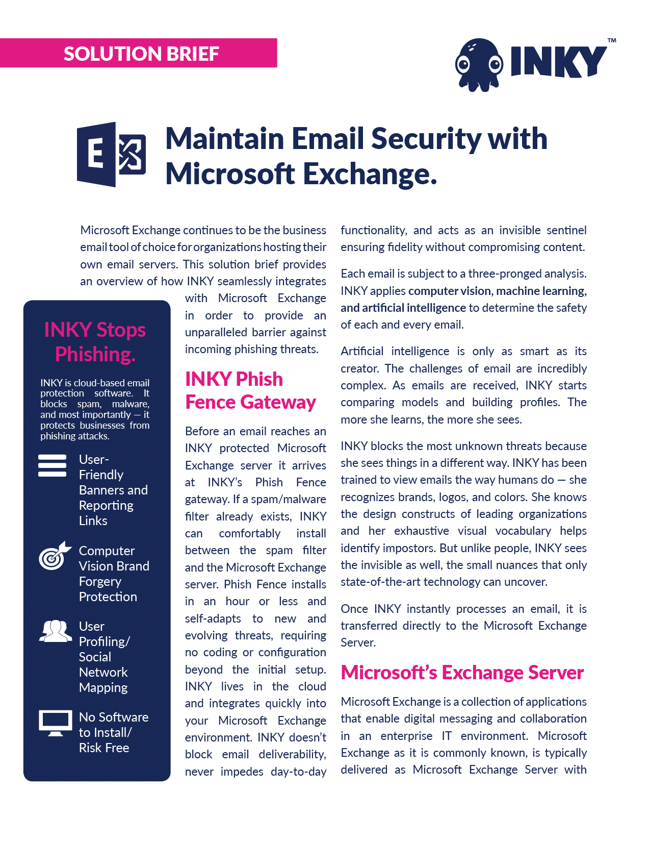 INKY and Microsoft Exchange Solution Brief