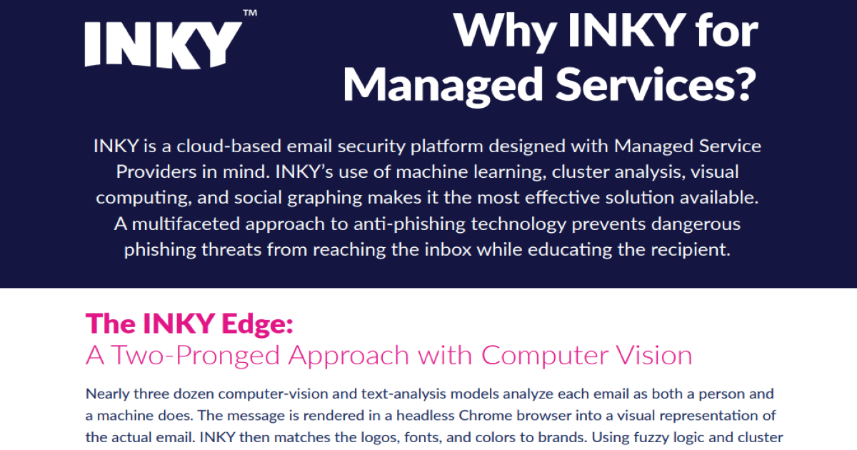 Why INKY for Managed Services?