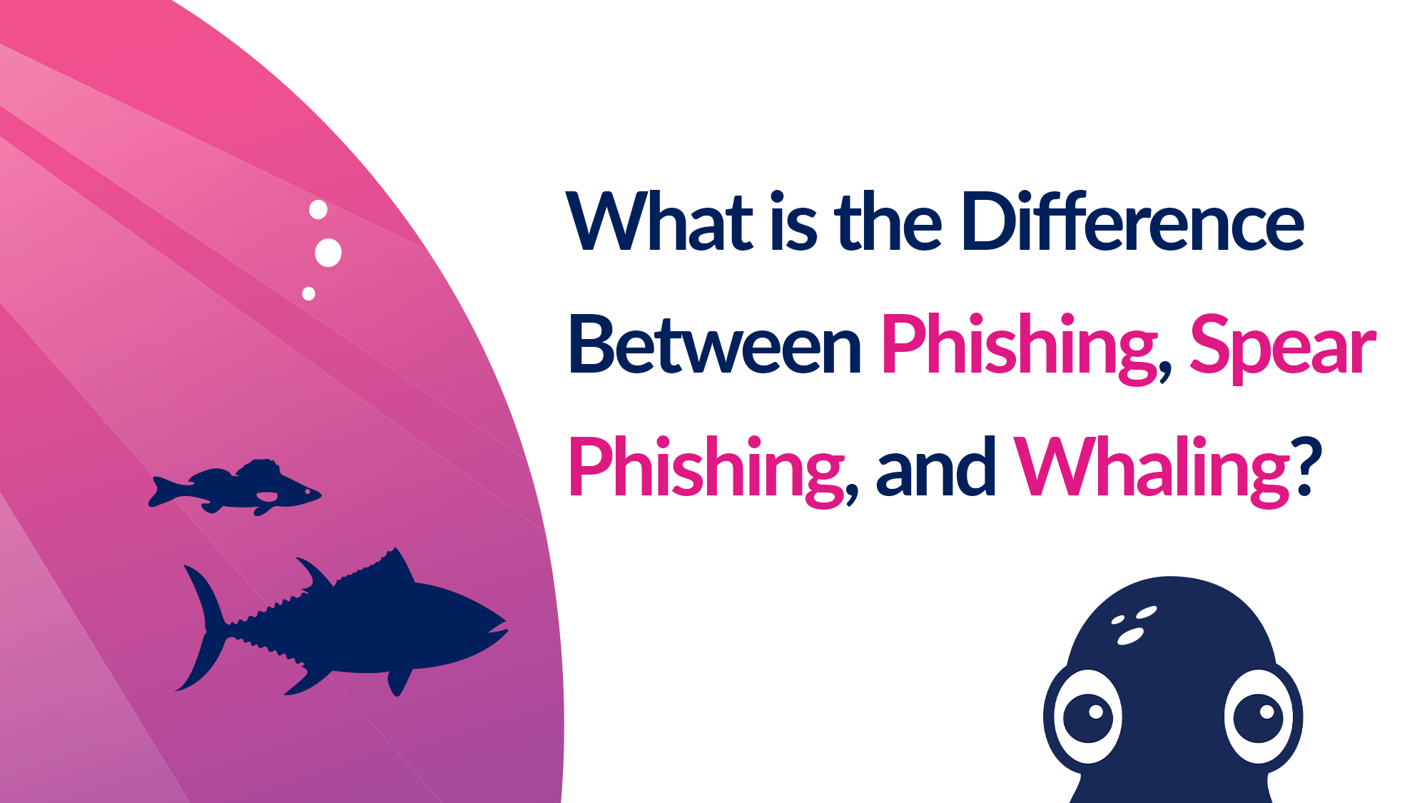 What is the Difference Between Phishing, Spear Phishing, and Whaling?