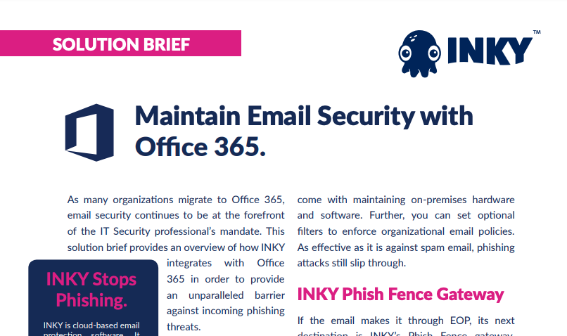 INKY and Office 365 Solution Brief